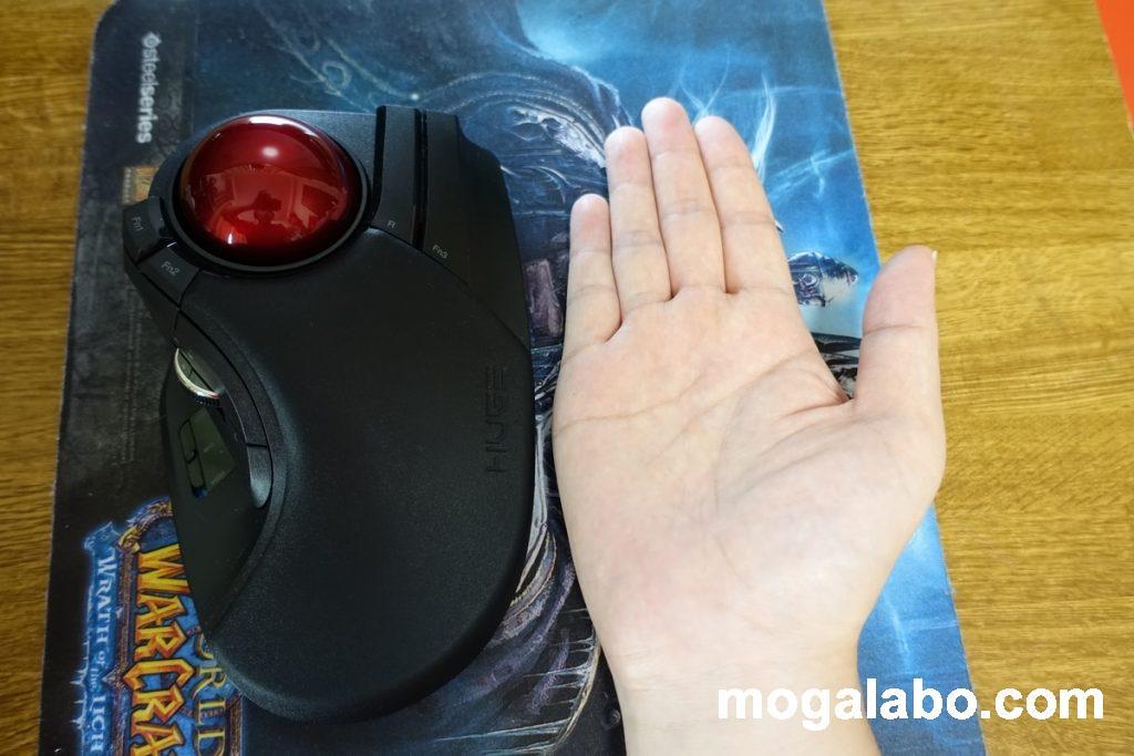 手が小さい人には合わない可能性