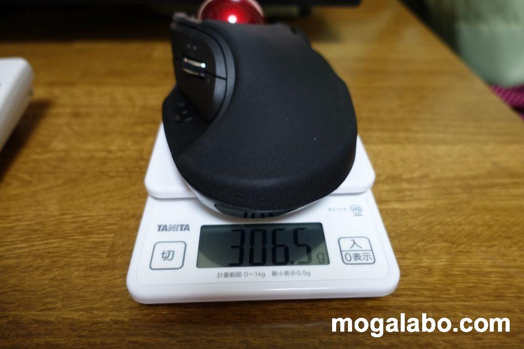 重さは306g