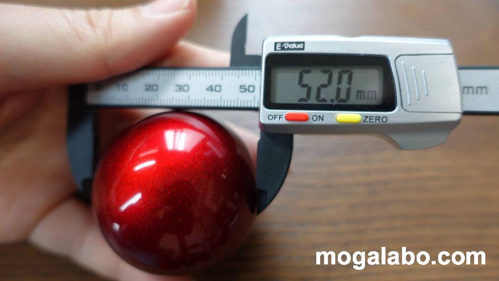 トラックボールの直径は52mm