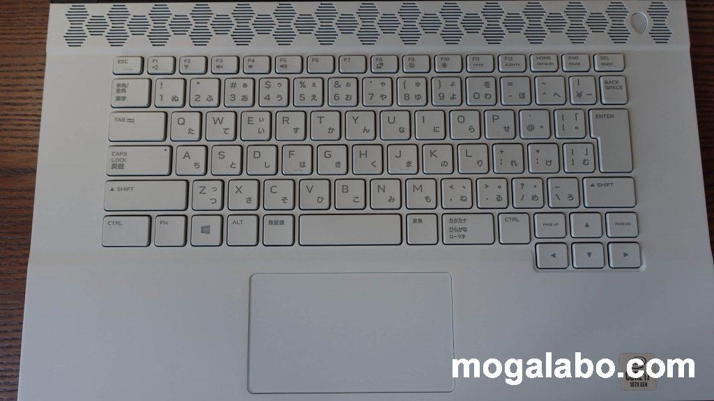 ALIENWARE M15 R3のキーボード