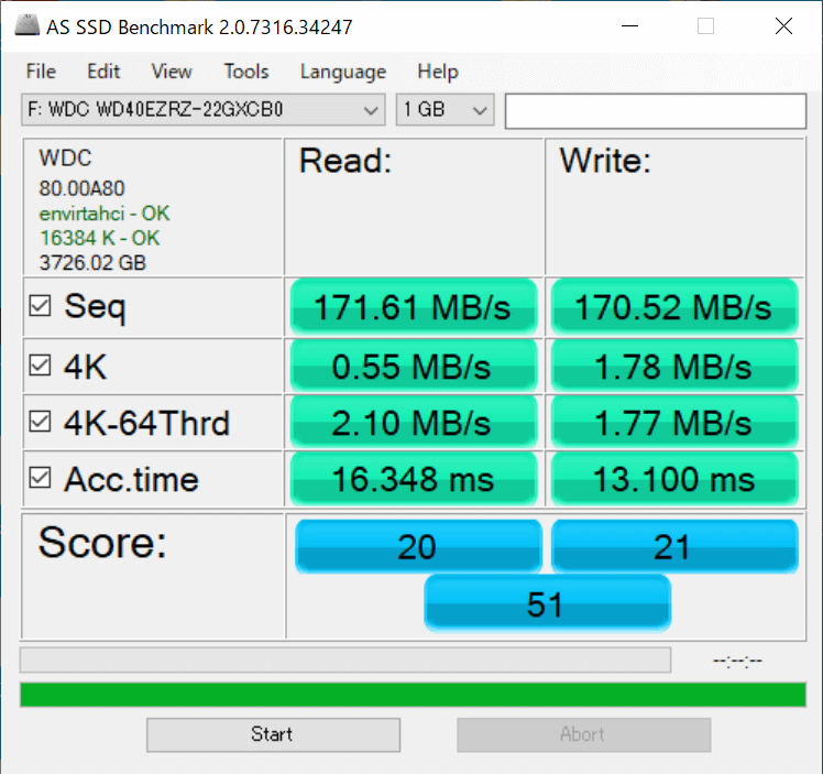 AS SSD Benchmark※WD40EZRZ(CMR)