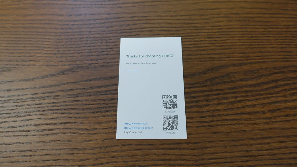 ORICOのサンキューカード