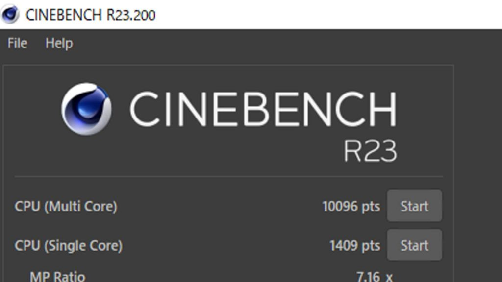 Cinebench R23(PL無効化)