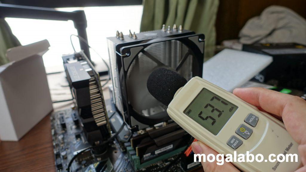 CPU負荷100%時の騒音(SE-224-XT)
