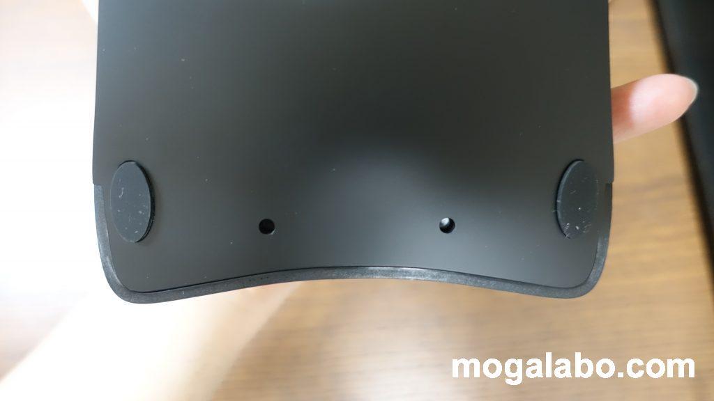 この穴にリストレストをはめ込む